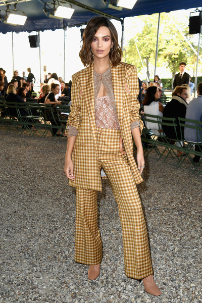 Gold Checkered Pantsuit
