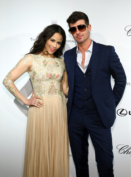 2014: Robin Thicke & Paula Patton