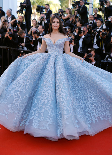 Aishwarya Rai in Michael Cinco at the Cannes Film Festival