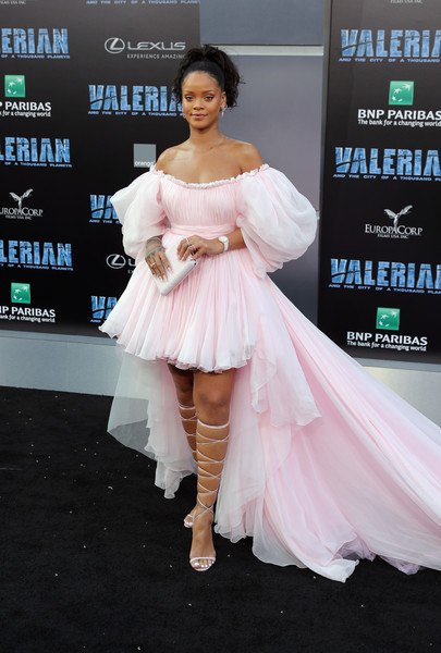 Rihanna in Giambattista Valli Couture at the 'Valerian and the City of a Thousand Planets' Hollywood Premiere