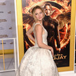 When She Donned a Floaty Frock for the 'Mockingjay: Part 1' Premiere