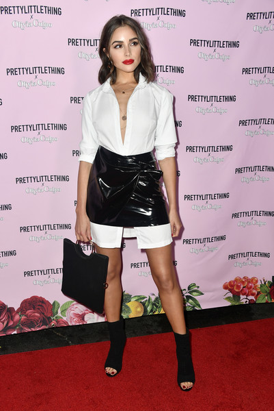 Olivia Culpo in PrettyLittleThing at her Collab Launch With the Brand