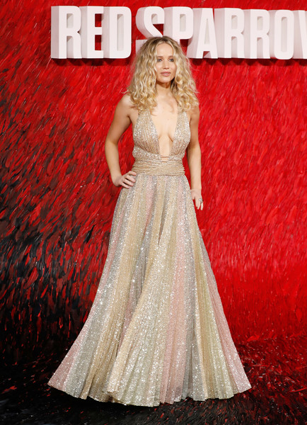 When She Glammed It Up At The European 'Red Sparrow' Premiere