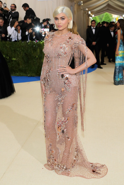 Kylie Jenner in Atelier Versace at the Met Gala