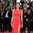 Irina Shayk In Atelier Versace At The Cannes Film Festival