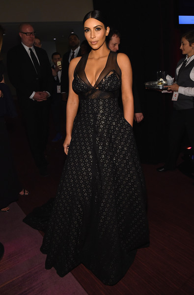 Wearing A Sheer-Panel Sophie Theallet Gown At The Time 100 Gala