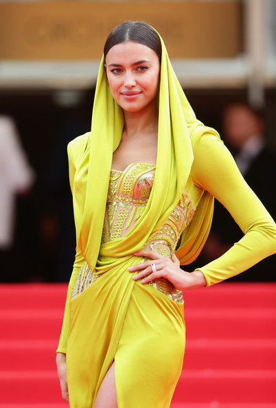 Irina Shayk in Atelier Versace at the 2014 Cannes Film Festival
