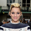 Marion Cotillard's Bleached Pompadour at Paris Fashion Week