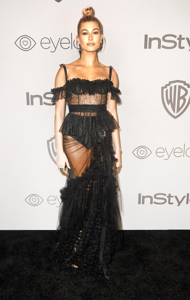 Hailey Baldwin In Dsquared2 At The Golden Globes After Party