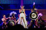 Kylie Minogue opens her world tour 'Les Folies Tour' at Herning MCH Multi Arena on February 19, 2011 in Herning, Denmark.