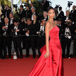 Chanel Iman in Donna Karan at Cannes 2015
