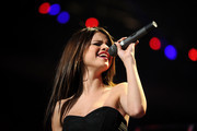 Selena Gomez performs during Z100's Jingle Ball 2010 at Madison Square Garden on December 10, 2010 in New York City.