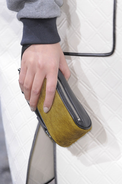 3.1 Phillip Lim at New York Fall 2013 (Details) [yellow,hand,leather,beige,bag,fashion accessory,wallet,hand luggage,bag,handbag,fashion accessory,phillip lim,fashion,color,product design,mustard,beige,new york fashion week,handbag,autumn,fashion,winter,color,narciso rodriguez,product design,2013,mustard,bag]