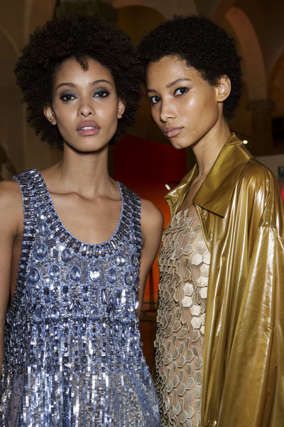 Backstage at Alberta Ferretti
