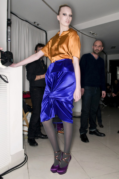 Albino at Milan Fall 2009 (Backstage)
