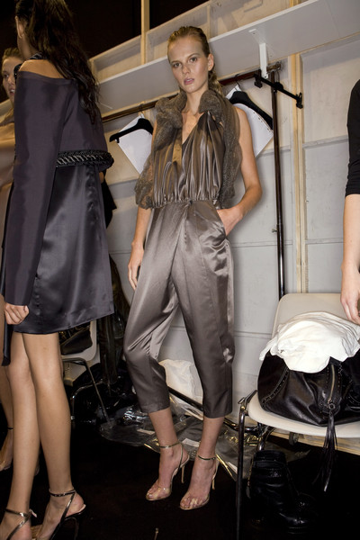 Anne Valérie Hash at Paris Spring 2009 (Backstage)