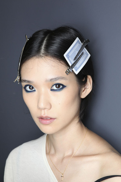 Anne Valérie Hash at Paris Spring 2012 (Backstage)