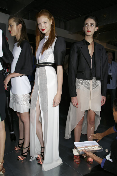 Antonio Berardi at London Spring 2014 (Backstage)