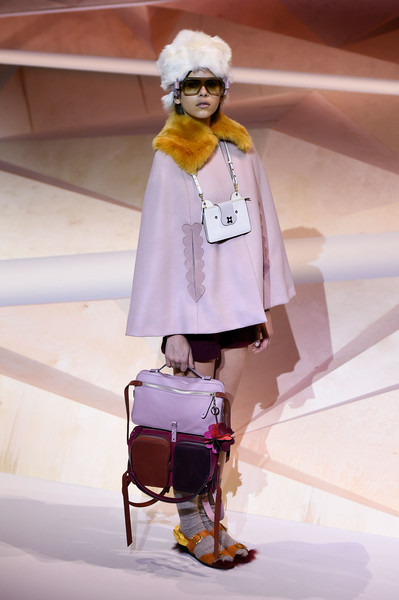 Anya Hindmarch at London Fall 2017 [fashion,clothing,street fashion,outerwear,pink,fashion model,eyewear,fashion design,fashion show,costume,outerwear,anya hindmarch,fashion,fashion design,fashion week,model,runway,fashion model,pink,london fashion week,anya hindmarch,london fashion week 2017,fashion,fashion week,fashion design,autumn,model,runway,2017,anya hindmarch - london fashion week 2017]