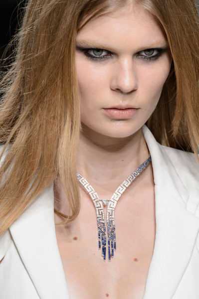 Atelier Versace at Couture Spring 2016 (Details) [hair,face,hairstyle,blond,eyebrow,lip,necklace,beauty,skin,fashion,blond,supermodel,irina shayk,beauty,fashion,haute couture,model,photo shoot,atelier versace,couture spring 2016,irina shayk,supermodel,model,haute couture,necklace-m,beauty,photo shoot,fashion,blond,parade]