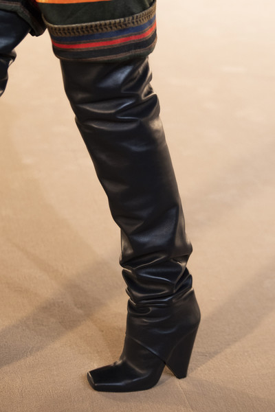 Balmain at Paris Fall 2020 (Details) [footwear,jeans,shoe,human leg,boot,leg,knee-high boot,thigh,riding boot,knee,shoe,jeans,shoe,footwear,riding boot,equestrianism,boot,thigh,balmain,paris fashion week,riding boot,shoe,denim,jeans,high-heeled shoe,equestrianism]