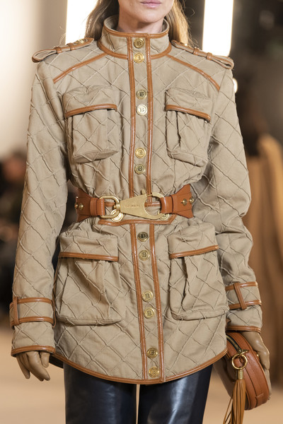Balmain at Paris Fall 2020 (Details) [clothing,outerwear,fashion,overcoat,skin,waist,sleeve,coat,beige,khaki,outerwear,fashion,beige,overcoat,model,clothing,beige_m,waist,balmain,paris fashion week,overcoat,beige_m,model,fashion,beige]