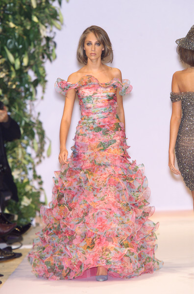 Balmain at Couture Spring 2001 [couture spring 2001,dress,fashion model,clothing,gown,shoulder,fashion,strapless dress,pink,formal wear,day dress,gown,dress,dress,fashion,spring,haute couture,model,balmain,fashion show,balmain,fashion show,fashion,haute couture,model,gown,supermodel,spring,photo shoot]