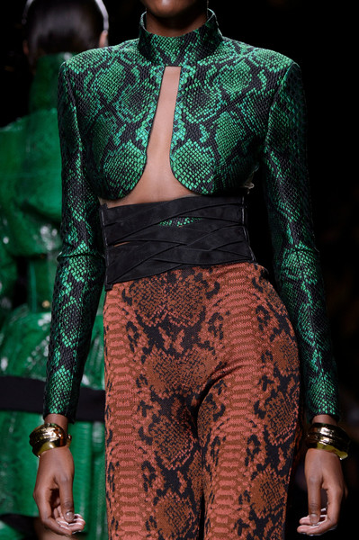 Balmain at Paris Spring 2017 (Details) [fashion,clothing,fashion model,green,runway,fashion show,haute couture,fashion design,neck,model,supermodel,fashion,runway,haute couture,model,rogue,fashion design,balmain,paris fashion week,fashion show,runway,paris fashion week,model,fashion,fashion show,haute couture,balmain,fashion gone rogue,supermodel]