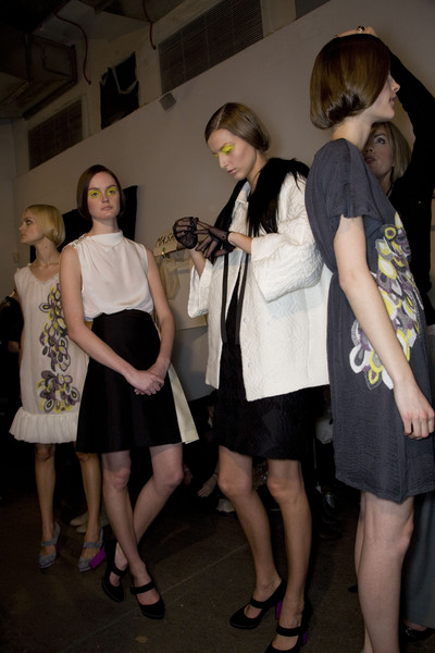 Behnaz Sarafpour at New York Fall 2008 (Backstage)