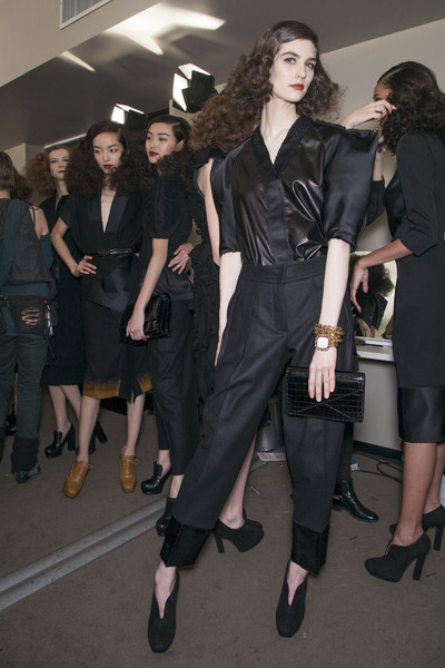 Bottega Veneta at Milan Fall 2013 (Backstage)