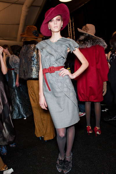 Carolina Herrera at New York Fall 2010 (Backstage)
