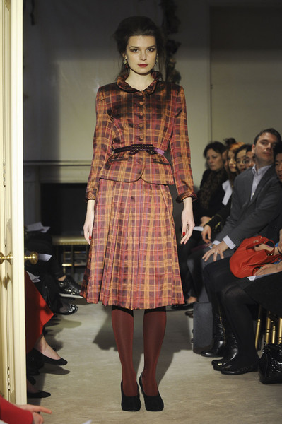 Caroline Charles at London Fall 2012
