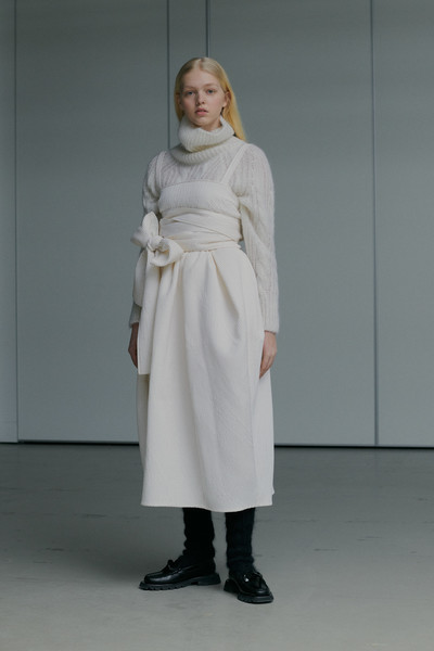 Cecilie Bahnsen at Paris Fall 2021 [one-piece garment,dress,sleeve,waist,street fashion,gown,fashion design,formal wear,knee,fashion model,dress,cecilie bahnsen,fashion,fashion week,street fashion,haute couture,runway,coat,paris fashion week,fashion show,fashion show,fashion,fashion week,ready-to-wear,dress,cecilie bahnsen,haute couture,runway,autumn,coat]