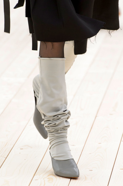 Céline at Paris Spring 2017 (Details) [footwear,white,leg,fashion,shoe,human leg,knee-high boot,thigh,joint,ankle,shoe,footwear,celine,leg,fashion,white,runway,boot,thigh,paris fashion week,shoe,sandal,runway]