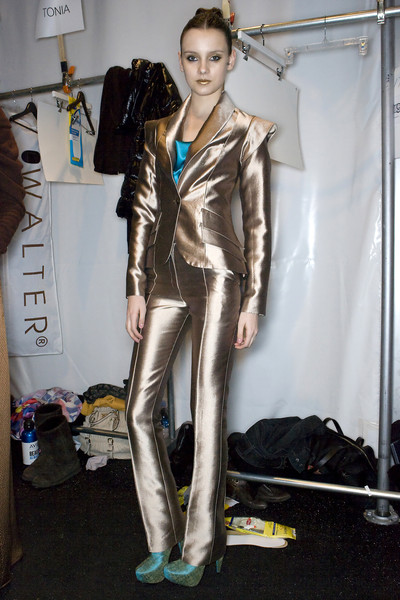 Christian Siriano at New York Fall 2009 (Backstage)