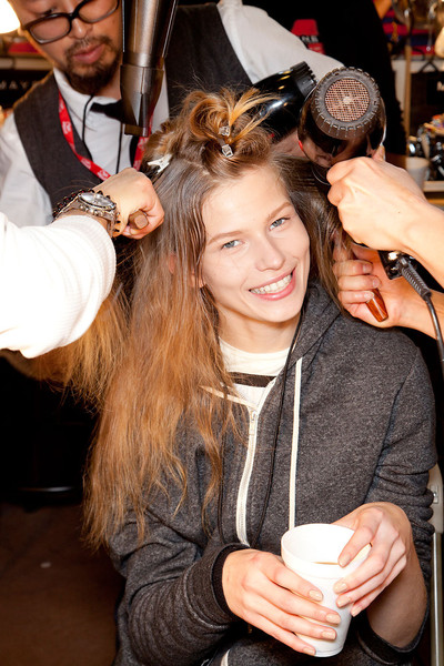 DKNY at New York Fall 2012 (Backstage)