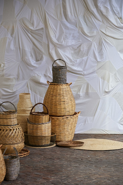 Daniela Gregis at Milan Spring 2021 [still life photography,still life,still life photography,room,wicker,textile,basket,beige,interior design,serveware,jug,daniela gregis,daniela gregis,spring,textile,basket,flat,room,milan fashion week,fashion show,daniela gregis,fashion show,/m/083vt,charlotte knowles,ready-to-wear,spring,2021,flat,still life photography,summer]