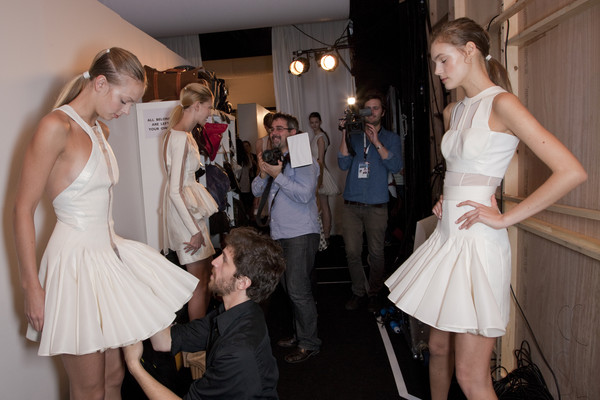 David Koma at London Spring 2011 (Backstage)