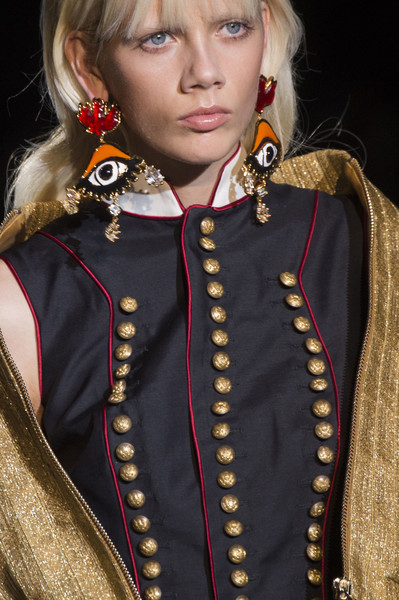 Dsquared² at Milan Spring 2017 (Details) [fashion,hairstyle,blond,outerwear,long hair,fashion accessory,fashion design,costume,uniform,cosplay,outerwear,blond,socialite,fashion,hairstyle,model,dsquared,fashion design,costume,milan fashion week,fashion,socialite,model]