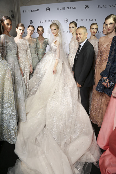 Elie Saab Bks Bis at Couture Fall 2014 (Backstage)