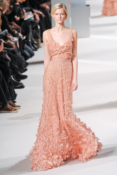 Elie Saab at Couture Spring 2011 [fashion model,dress,fashion,clothing,gown,shoulder,haute couture,fashion show,pink,neck,dress,gown,haute couture,fashion,clothing,wedding dress,fashion model,elie saab,couture spring 2011,fashion show,haute couture,fashion,dress,fashion show,dior,clothing,wedding dress,2011,gown]