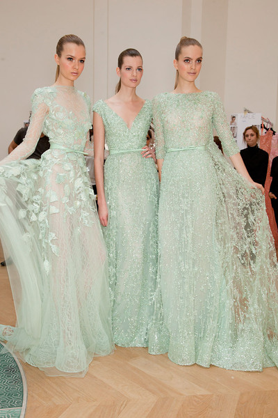 Elie Saab at Couture Spring 2012 (Backstage)