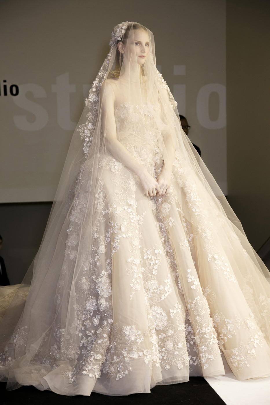 Elie saab at couture spring 2014 livingly for Undergarments for wedding dress