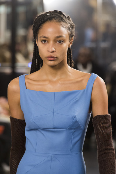 Emilia Wickstead at London Fall 2019 (Details) [shoulder,beauty,fashion,model,hairstyle,fashion model,electric blue,dress,lip,joint,socialite,supermodel,fashion,model,hair,hair,photography,photo shoot,hairstyle,london fashion week,fashion,hair m,photo shoot,model,socialite,supermodel,long hair,photography,hair,beauty.m]
