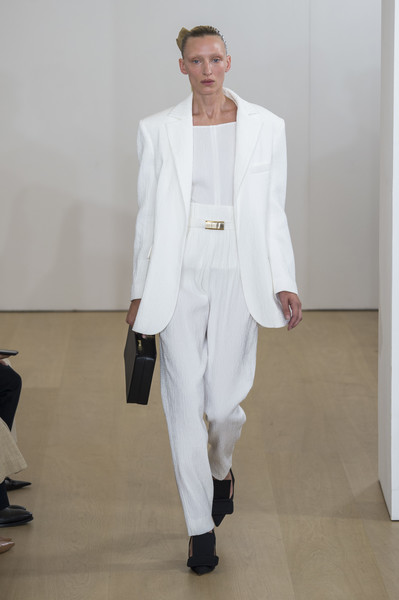 Emilia Wickstead at London Spring 2019 [white,suit,clothing,fashion,formal wear,runway,fashion show,pantsuit,blazer,outerwear,emilia wickstead,fashion,runway,clothing,suit,fashion week,model,wear,london fashion week,fashion show,emilia wickstead,london fashion week,fashion,fashion show,clothing,fashion week,suit,runway,model,ready-to-wear]