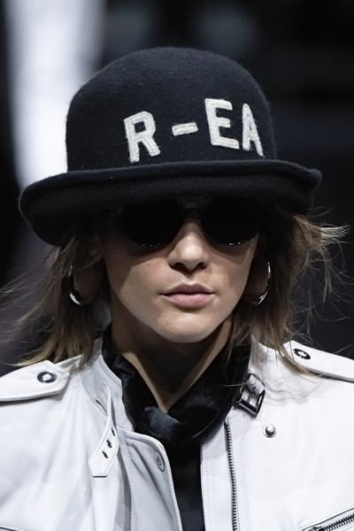 Emporio Armani at Milan Fall 2020 (Details) [eyewear,street fashion,cool,fashion,headgear,cap,hat,police officer,official,sunglasses,sunglasses,bicycle helmet,fashion,glasses,capital asset pricing model,eyewear,emporio armani,headgear,cap,milan fashion week,sunglasses,glasses,fedora,fashion,bicycle helmet,capital asset pricing model]