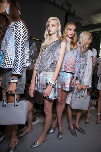 Emporio Armani at Milan Spring 2013 (Backstage)