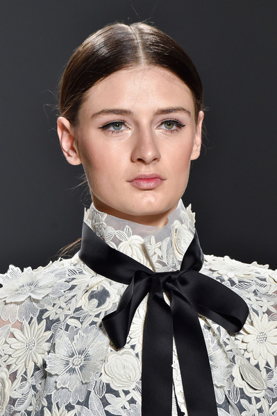 Erin Fetherston at New York Fall 2015 (Details) [hair,clothing,scarf,neck,fashion,beauty,hairstyle,eyebrow,chin,fashion accessory,supermodel,socialite,erin fetherston,fashion,hair,model,haute couture,runway,beauty,new york fashion week,haute couture,runway,model,supermodel,fashion,socialite,beauty.m]