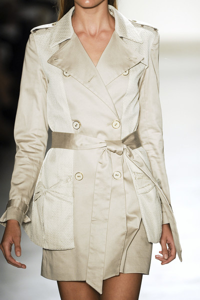 Erin Fetherston at New York Spring 2011 (Details) [clothing,fashion model,fashion,white,outerwear,fashion show,coat,trench coat,beige,waist,supermodel,fashion,trench coat,beige,model,runway,haute couture,clothing,new york fashion week,fashion show,trench coat,fashion show,runway,model,fashion,supermodel,haute couture,overcoat,beige]