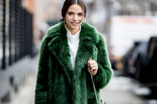 These Street Style Stars Wore the BEST Faux Fur Coats at NYFW